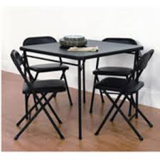table rental fort worth black card table with 4 matching chairs rental in fort worth tx