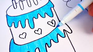 learning colors for kids by drawing birthday cake coloring pages
