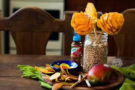 All Natural Flower Food How To Make Mexican Mango Flowers With Chile Powder Video