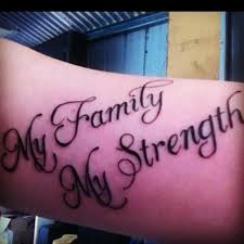 my family my strength s strength