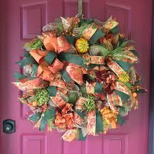fall wreath deco mesh wreath for fall thanksgiving wreath bay