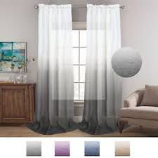 Grey Linen Curtains Grey Linen Curtains 96 Inches Casual Open Weave Sheer