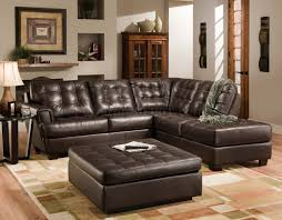 Brown Leather Sectional Sofa With Chaise Sofa Tufted Leather Couches Rolled Arm Leather Sofa Tufted