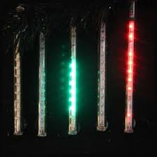 kurt s adler snowfall set of 5 7 led outdoor icicle