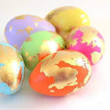 gold easter eggs abstract and gold leaf easter eggs a bigger