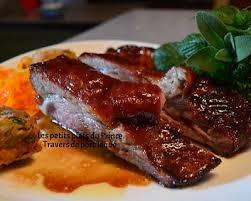 recette travers de porc laqués