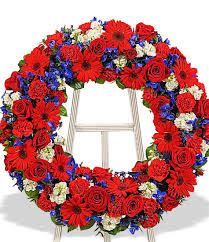 patriotic memorial wreath freytag s florist