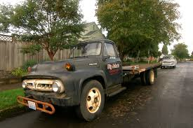 Old Ford V8 Truck - old parked cars 1953 ford f 600