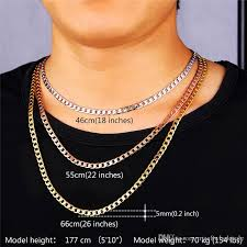 curb chain necklace mens images Mens rose gold necklace clipart jpg