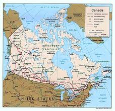 canadian map cities detailed political map of canada with administrative divisions and