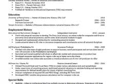 Upenn Career Services Resume Actuarial Science Resume Template Free Resume