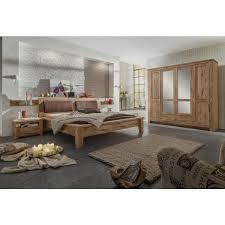 Schlafzimmer Komplett Antik Bett 200x200 Kiefer Massiv 2farbig Weiß Antik Sevilla