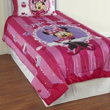 Minnie Mouse Bedspread Set Disney Minnie Mouse Twin Comforter Sweet Treat Cupcakes Bedding
