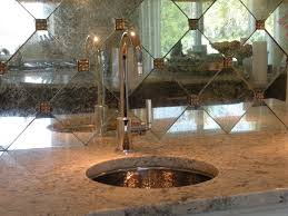 Mirror Backsplash Tiles by Hand Silvered Glass Backsplash Tiles Traditional Kitchen