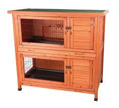 Outdoor Rabbit Hutch Plans Amazon Com 2 In 1 Rabbit Hutch Pet Habitats Patio Lawn U0026 Garden