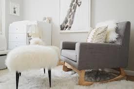 Gray Rocking Chair For Nursery Gray Roll Arm Nursery Rocker Design Ideas
