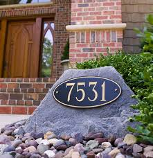 faux rock with address in landscaping central florida landscape
