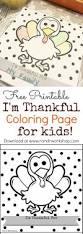 u0027m thankful coloring kids free printable entertain