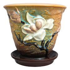 Flower Pot Sale by Roseville Pottery Magnolia Flower Pot 666 5 Brown Ca 1943