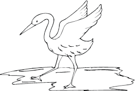 crane coloring pages coloring pages