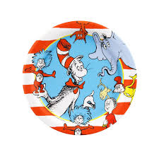 party city halloween plates dr seuss dessert plates birthdayexpress com