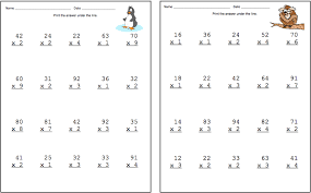 2 by 1 digit multiplication worksheets free worksheets library