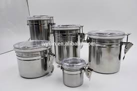 kitchen canisters stainless steel stainless steel canisters wholesale stainless steel canisters