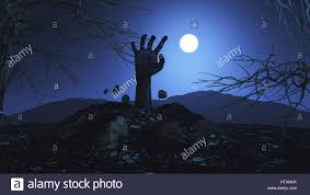 halloween background image 3d halloween background with zombie hand bursting out of the