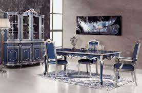 comfy luxury dining table in blue luxury dining table design for
