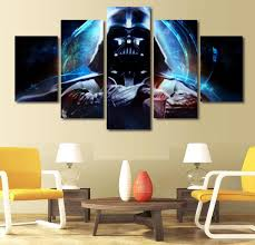 aliexpress com buy 5 panel decoration painting print star wars