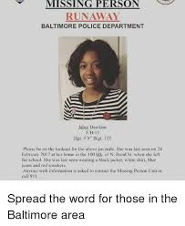 Memes Dawkins - missing person runaway baltimore police department jabre dawkins