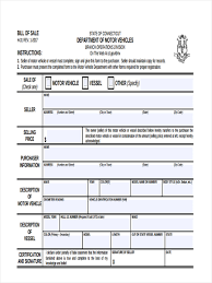 Bill Of Sale Form For Car Pdf by 6 Motor Bill Of Sale Forms Free Documents In Word Pdf