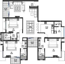 1500 Square Foot Floor Plans by 2200 Sq Ft Floor Plans 4 Beds Floor Plans Home Plan And House