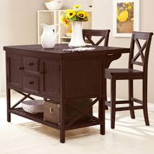 Kitchen Islands Atlanta Dark Brown Wooden Kitchen Islands With Shelf And Drawers Combined