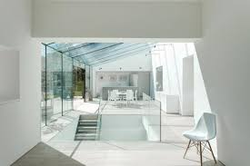 Glass Wall House by Spectacular Glass House Extension And Interior Redesign With Glass