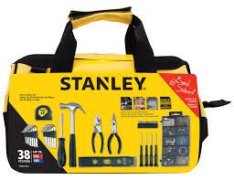 38 piece home repair tool set compact bag household mechanic