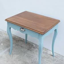 table bureau enfant bout de canapé ou bureau enfant vintage rénové et actualisé