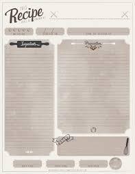 free printable recipe cards u2022 u2013 arts rec