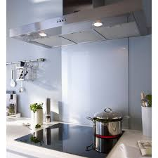 hotte de cuisine castorama crédence en verre gris 60 x 70 cm castorama cuisine kitchen