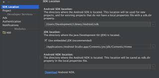 android developer kit not able to see cloud option in developer services of android