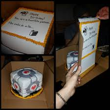 the cake is literally a lie geeky goodness pinterest the o