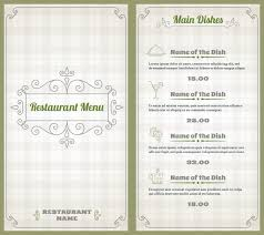 5 course menu template restaurant vectors photos and psd files free