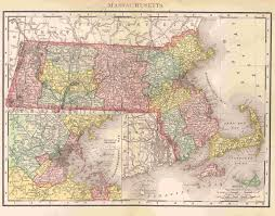Massachusetts Counties Map by Maps