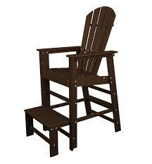 Poly Wood Adirondack Chairs Amazon Com Polywood Sbl30pb South Beach Lifeguard Chair Pacific