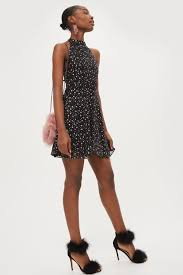 halter dress glitter halter dress dresses clothing topshop usa