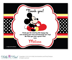 mickey mouse thank you cards boy mickey mouse thank you card with personalization boy mickey
