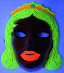 Halloween Black Light by Vintage Beauty Queen Halloween Mask Princess Zest 1960 U0027s 60 U0027s