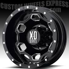 Xd Rims Quality Load Rated Kmc Xd 4x4 Wheels For Sale by Kmc Xd Series Xd815 Battalion Dually Black With Milled Accents
