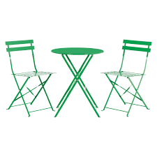 Metal Garden Table And Chairs Uk Parc 2 Seat Green Metal Folding Bistro Table And Chairs Set Buy