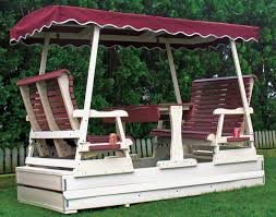 Porch Glider Swings Poly Lumber Biscayne Glider